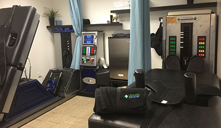 chiropractic equipment to relieve pain
